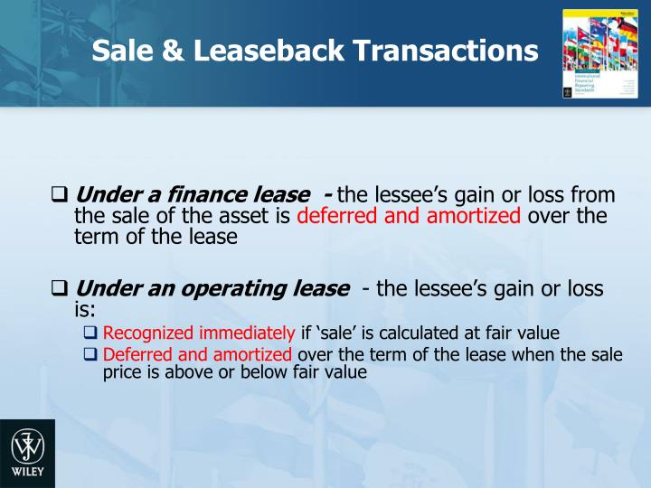 Sale & Leaseback Transactions
