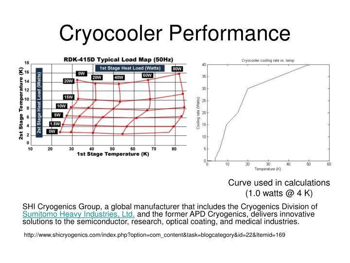 Cryocooler Performance