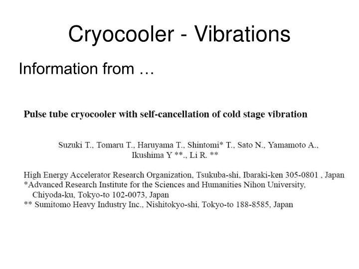 Cryocooler - Vibrations