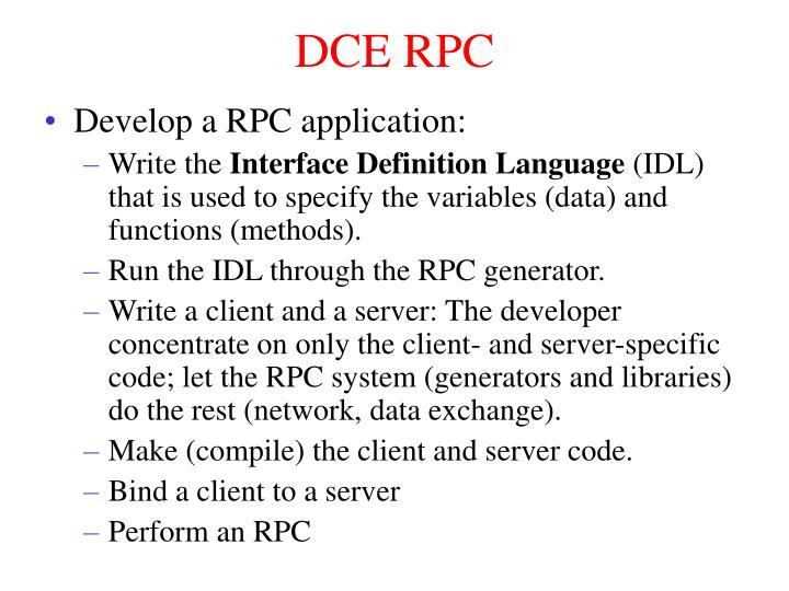 DCE RPC