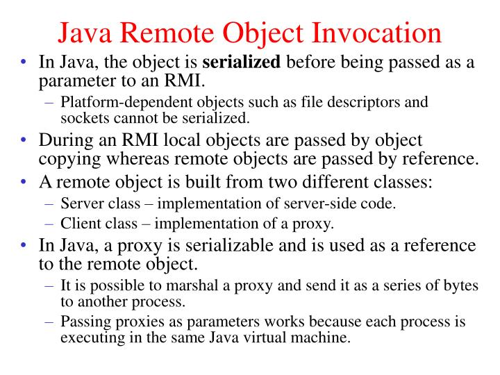 Java Remote Object Invocation