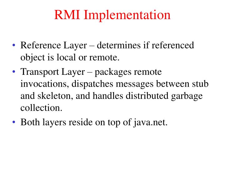 RMI Implementation