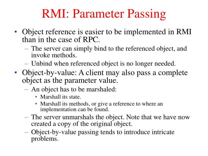 RMI: Parameter Passing
