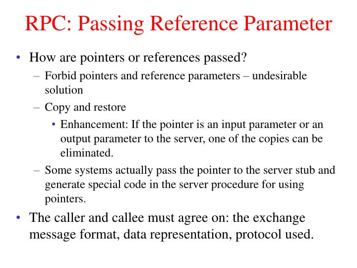RPC: Passing Reference Parameter