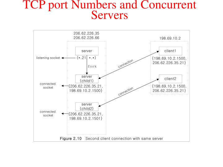 TCP port Numbers and Concurrent Servers