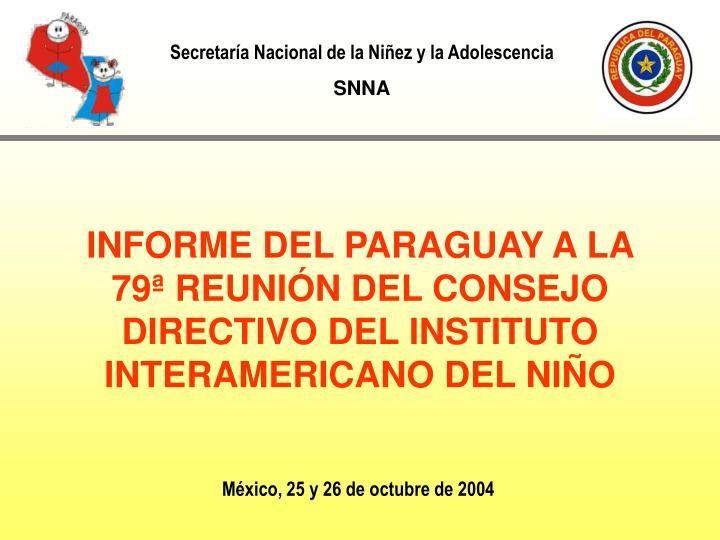 Secretaría Nacional de la Niñez y la Adolescencia