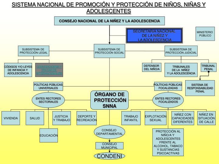 SISTEMA NACIONAL DE PROMOCIÓN Y PROTECCIÓN DE NIÑOS, NIÑAS Y ADOLESCENTES