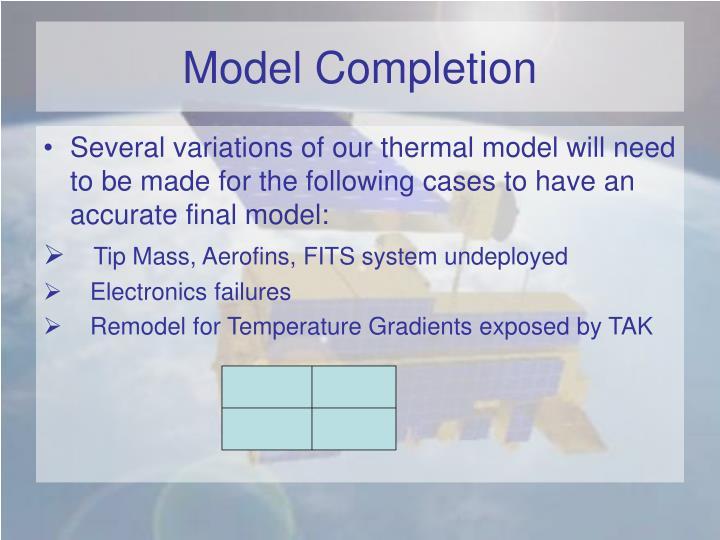 Model Completion