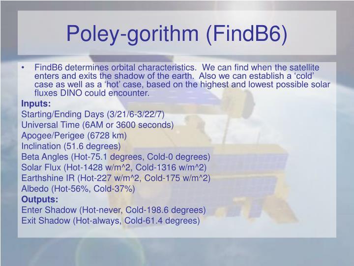 Poley-gorithm (FindB6)