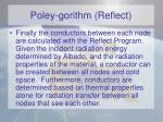 poley gorithm reflect
