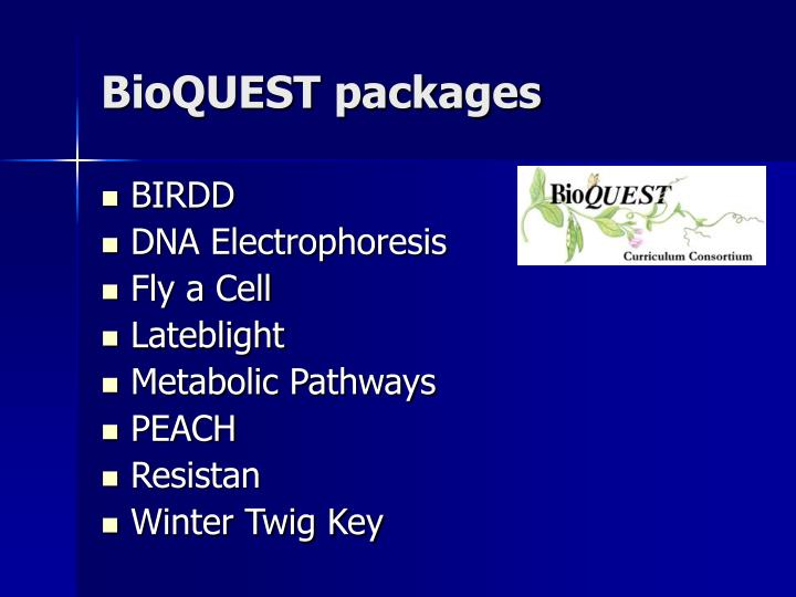 BioQUEST packages