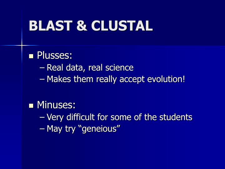 BLAST & CLUSTAL