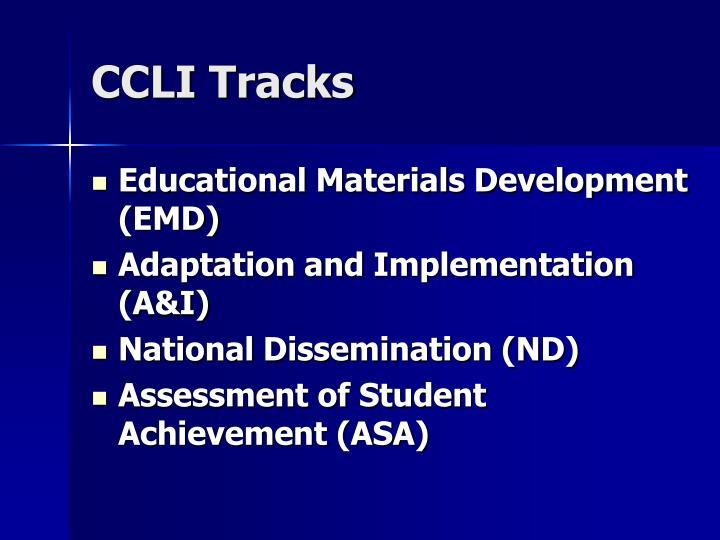 CCLI Tracks