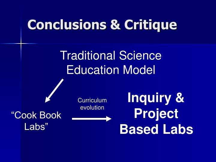 Conclusions & Critique
