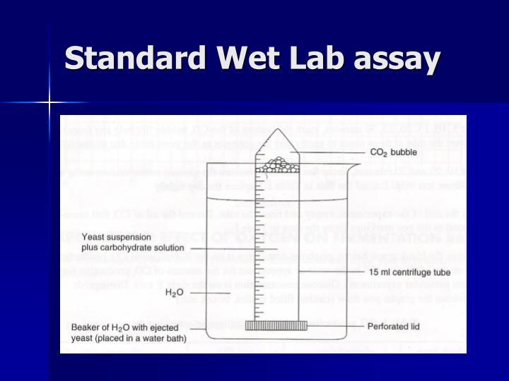 Standard Wet Lab assay