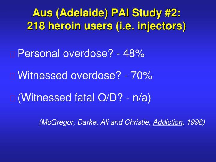 Aus (Adelaide) PAI Study #2: