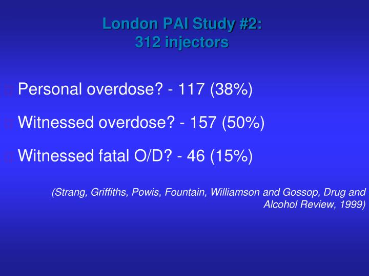 London PAI Study #2: