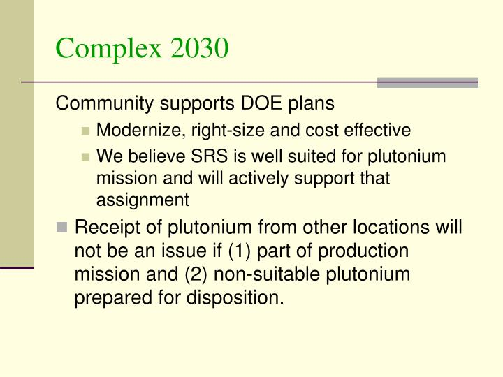 Complex 2030
