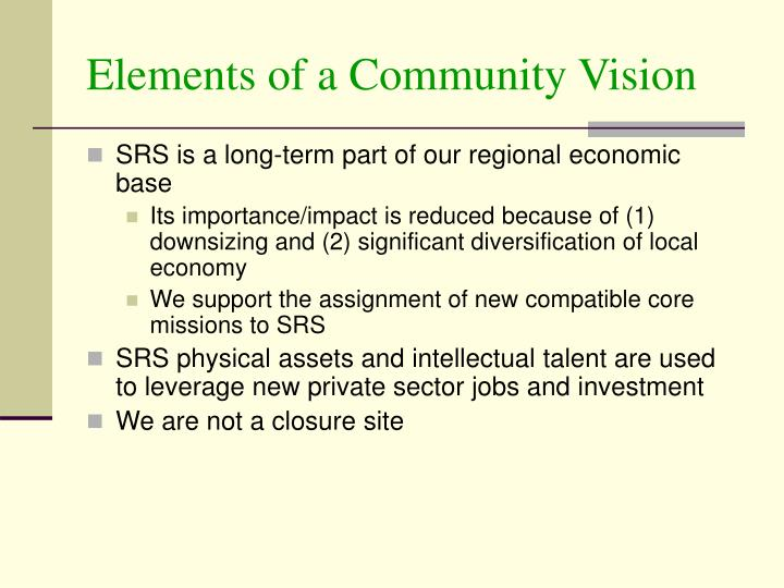 Elements of a Community Vision