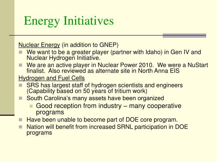 Energy Initiatives