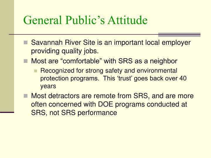 General Public's Attitude