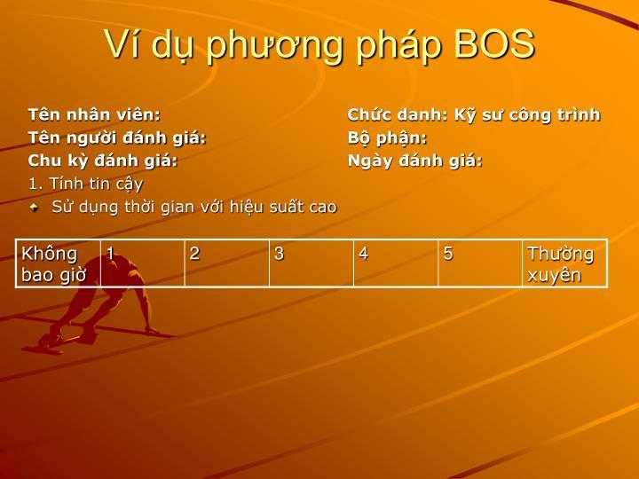 Ví dụ phương pháp BOS