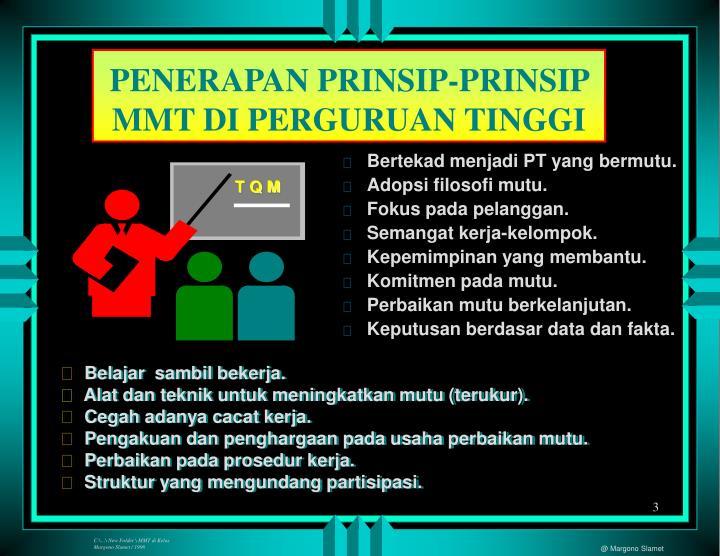 PENERAPAN PRINSIP-PRINSIP