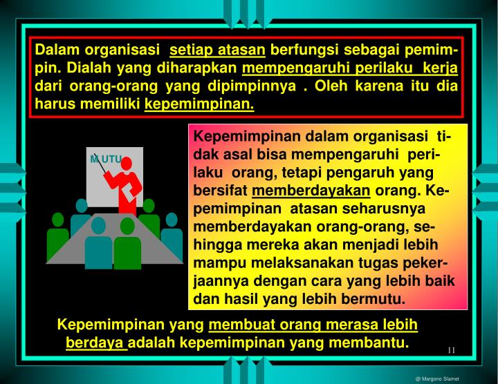 Dalam organisasi