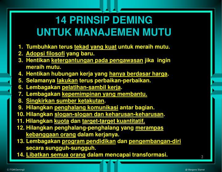 14 PRINSIP DEMING