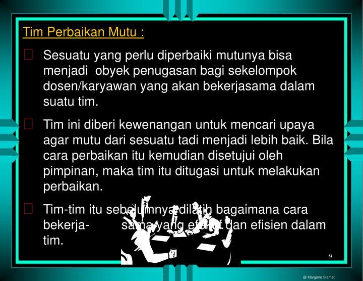 Tim Perbaikan Mutu :