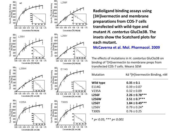 Radioligand binding assays using