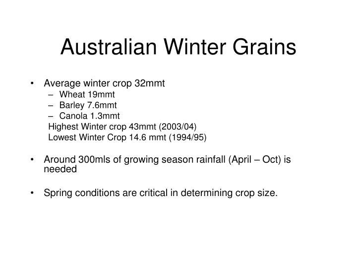 Australian Winter Grains