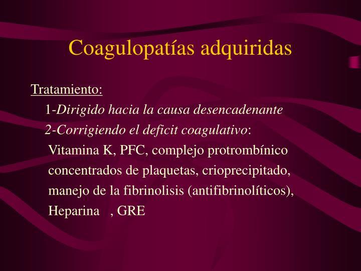 Coagulopatías adquiridas