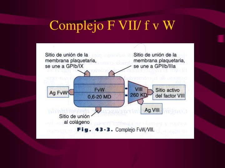 Complejo F VII/ f v W