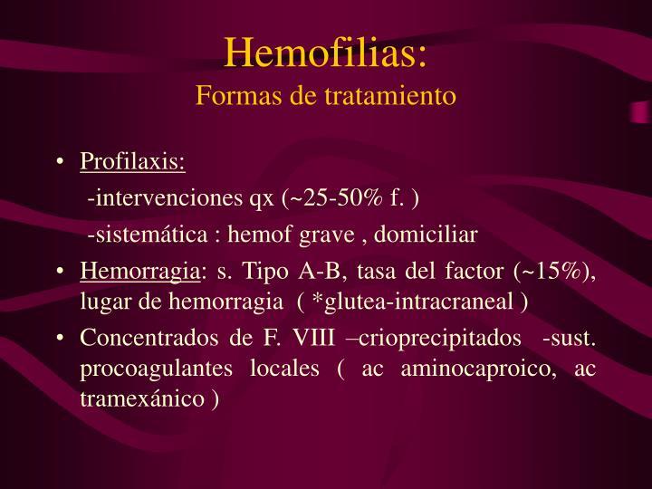 Hemofilias: