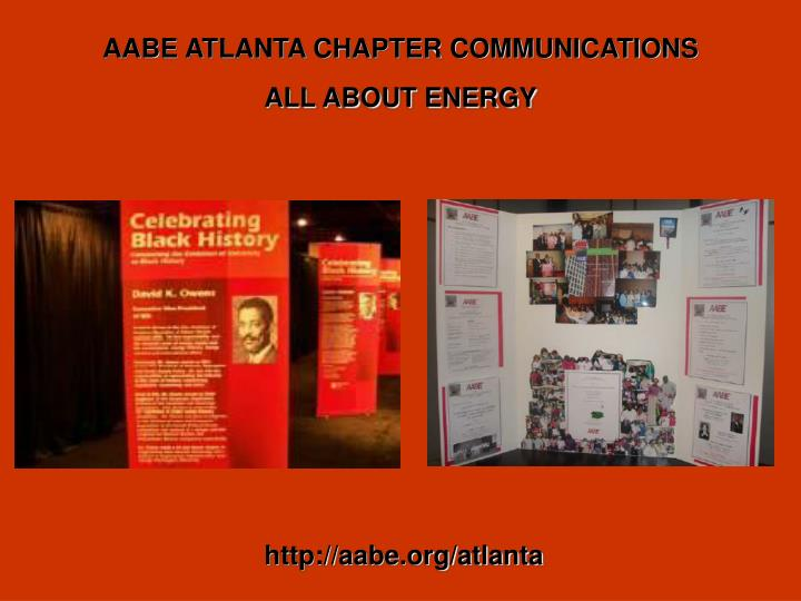 AABE ATLANTA CHAPTER COMMUNICATIONS