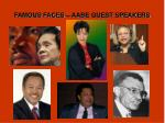 famous faces aabe guest speakers