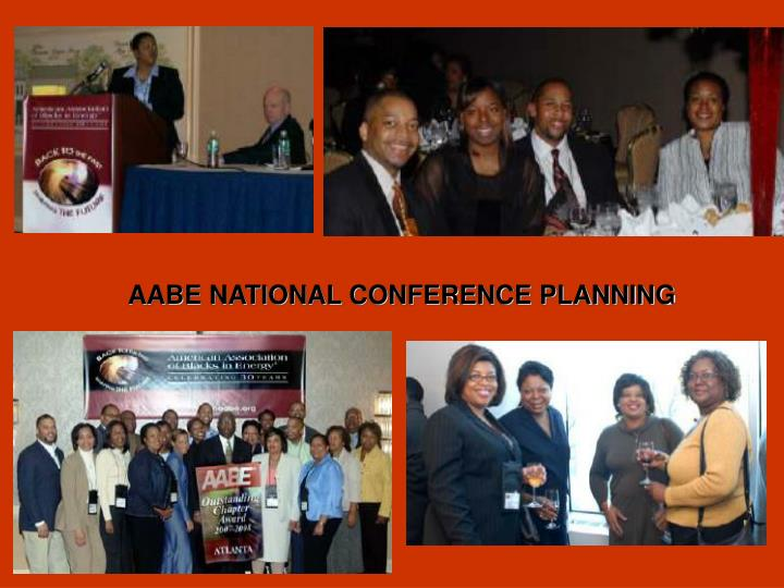 AABE NATIONAL CONFERENCE PLANNING