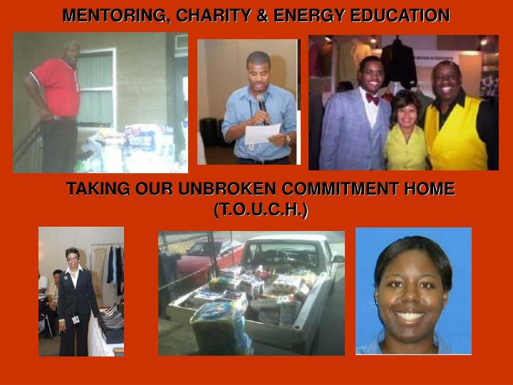 MENTORING, CHARITY & ENERGY EDUCATION