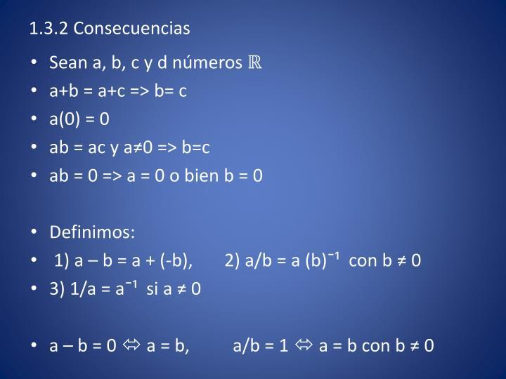 1.3.2 Consecuencias