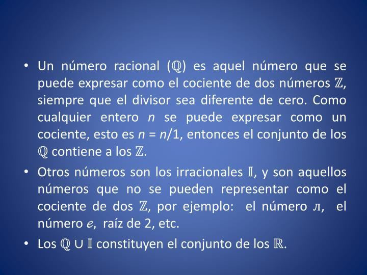 Un número racional (