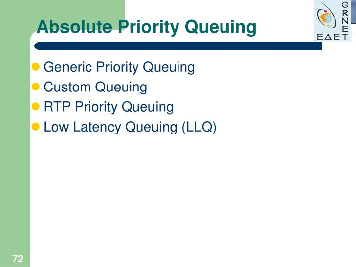 Absolute Priority Queuing