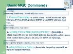 basic mqc commands