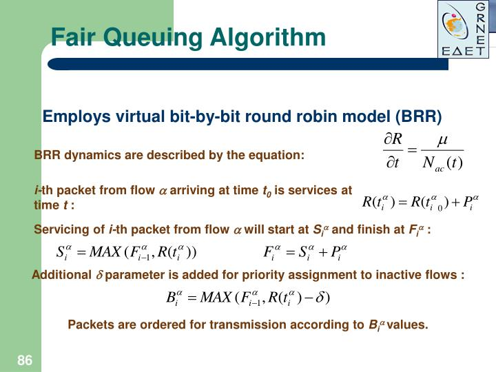 Fair Queuing Algorithm