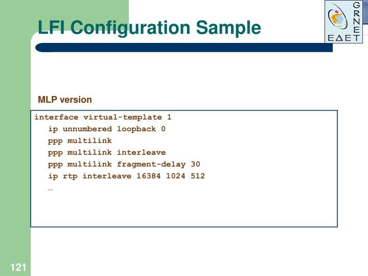LFI Configuration Sample