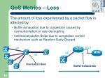 qos metrics loss