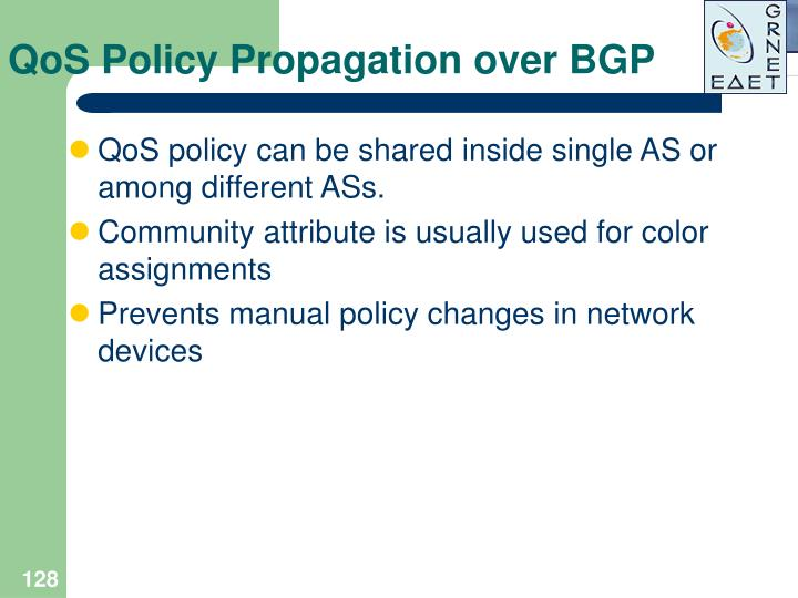 QoS Policy Propagation over BGP