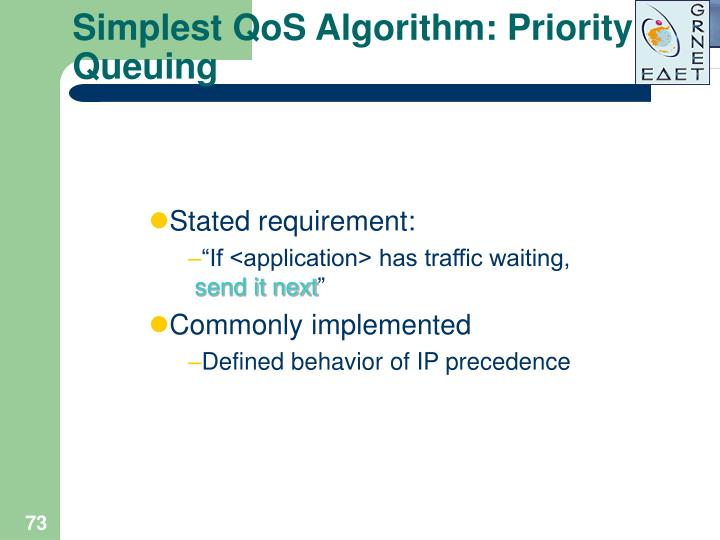 Simplest QoS Algorithm: Priority Queuing