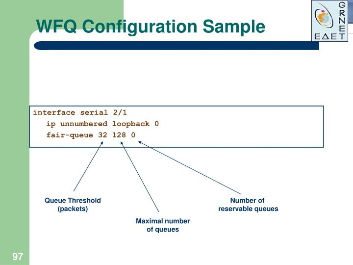 WFQ Configuration Sample
