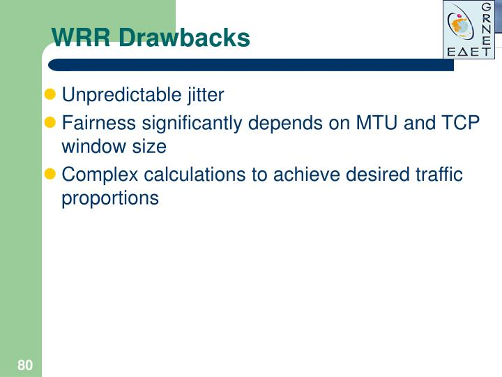 WRR Drawbacks